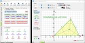 Geometrie - Dreieck, automatisch erzeugte Winkelhalbierende und Inkreis